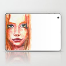 Portrait - RedHair & Freckles Laptop & iPad Skin