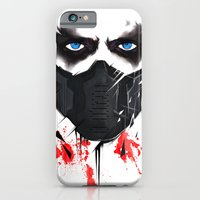 iPhone Cases featuring Bucky Barnes by akaori_art