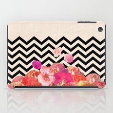 Chevron Flora II iPad Case
