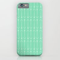 iPhone & iPod Case featuring MINT ARROWS by Allyson Johnson
