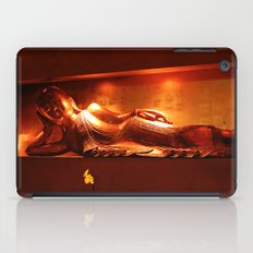 golden buddha, reclining iPad Case