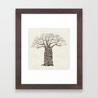 Zebra Tree Framed Art Print