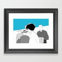 WHITE RIBBON Framed Art Print