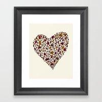 Lovely Leaves Framed Art Print