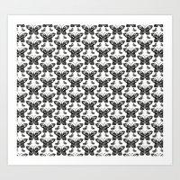 Butterfly pattern Art Print