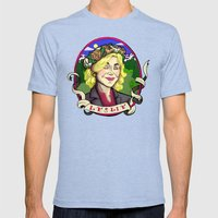 Leslie Knope Mens Fitted Tee Tri-Blue SMALL