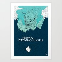 Howl's Moving Castle Art Print