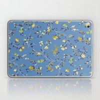 floral vines - blues Laptop & iPad Skin