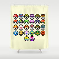 Gotta Catch'Em All Shower Curtain