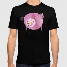 Greedy Pig Black SMALL Mens Fitted Tee