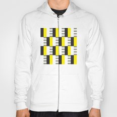 Yellow & black modernist pattern Hoody