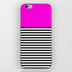 STRIPE COLORBLOCK {PINK} iPhone & iPod Skin