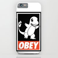 iPhone & iPod Case featuring OBEY Charmander by Royal Bros Art