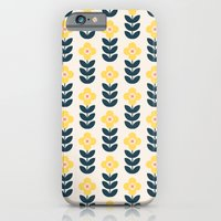 Vintage geometric flowers iPhone 6 Slim Case