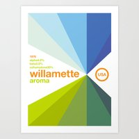 Willamette//single Hop Art Print