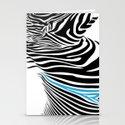 Painted Zebra  Stationery Cards