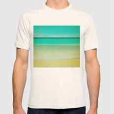 watercolor Mens Fitted Tee Natural SMALL