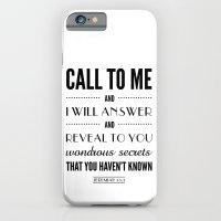 Wondrous Secrets. Jeremiah 33:3.  iPhone 6 Slim Case