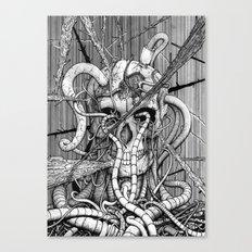 de hypterion I - The guardian - skull Canvas Print