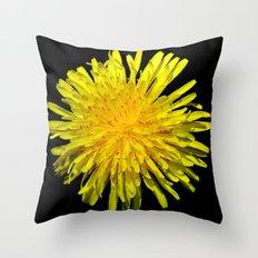 A Dandy Dandelion Throw Pillow