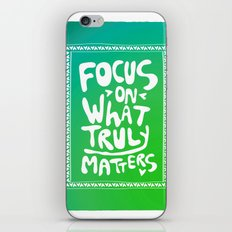 What truly matters iPhone & iPod Skin