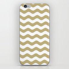Wavy Stripes (Sand/White) iPhone & iPod Skin