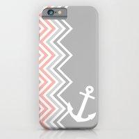 Coral Nautical Chevron  iPhone 6 Slim Case
