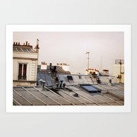 Paris Rooftop #1 Art Print