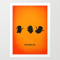 Minion Minimalist Movie Poster Art Print
