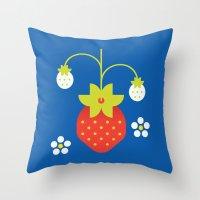 Fruit: Strawberry Throw Pillow
