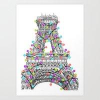 Paris Eiffel Tower Holid… Art Print
