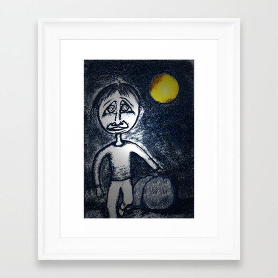 Fleeing Under Cover of Night Framed Art Print