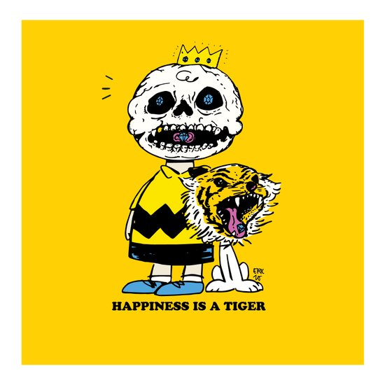 Happiness Is A Tiger Art Print