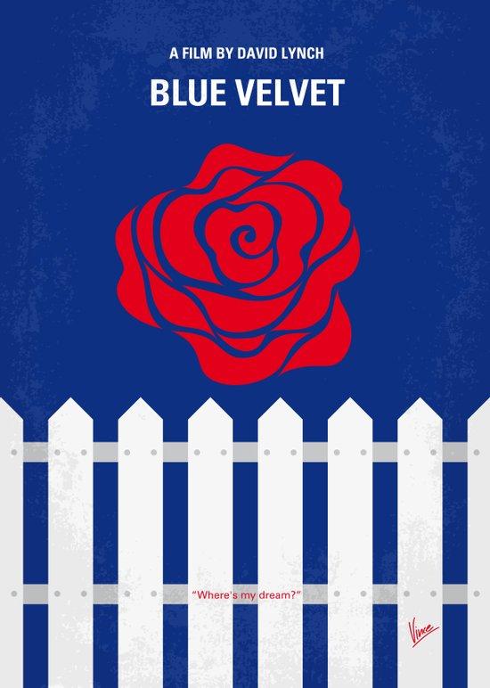No170 My BLUE VELVET minimal movie poster Canvas Print