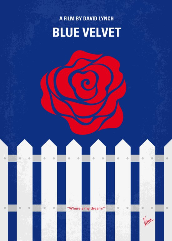 No170 My BLUE VELVET minimal movie poster Art Print