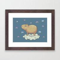 Capy In The Sky With Dia… Framed Art Print