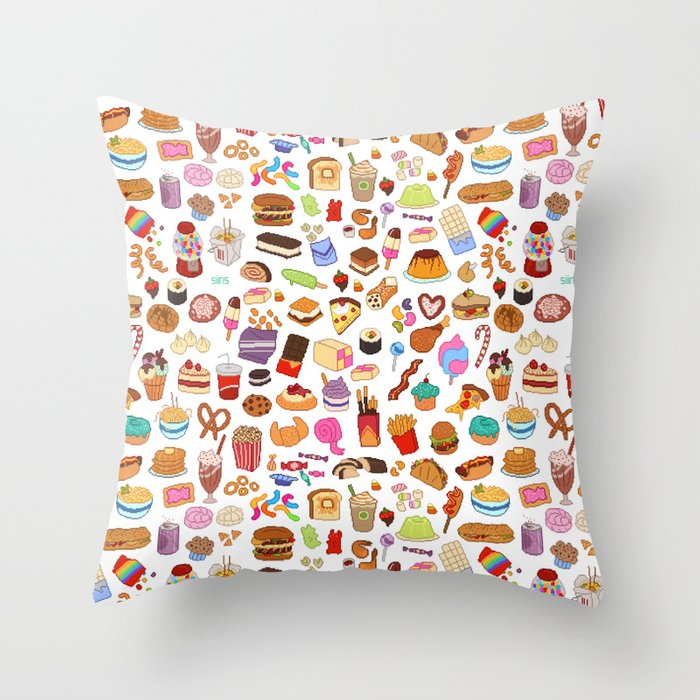 Cute Food Pillow : Cute food Throw Pillow by SIINS Society6