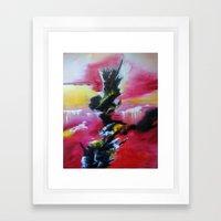 Magical Waterfalls Framed Art Print