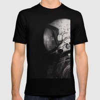 Staring into space Mens Fitted Tee Black SMALL