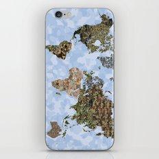 CAMO WORLD ATLAS MAP (BLUE) iPhone & iPod Skin