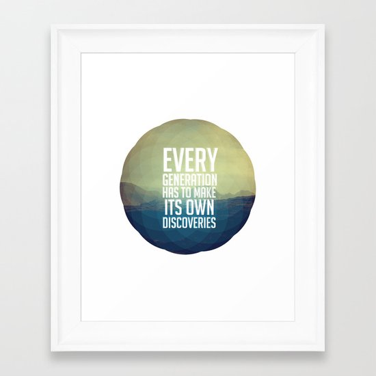 Discoveries Framed Art Print