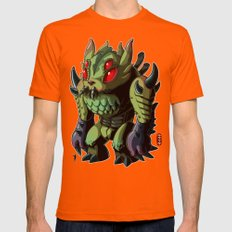 Astro King Mens Fitted Tee Orange SMALL