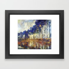 Poplars on the Bank of the Epte River by Claude Monet Framed Art Print