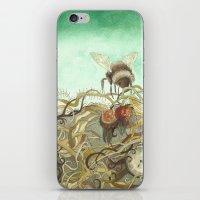 Bumblebee In Thorns iPhone & iPod Skin