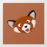 Red Panda Face Canvas Print