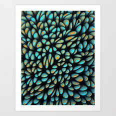 Blue Bloobly Art Print