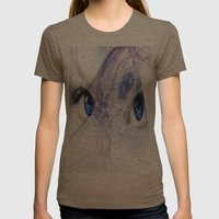 Eyes Womens Fitted Tee Tri-Coffee SMALL