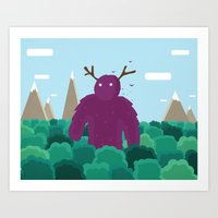 Life Swarms with Innocent Monsters Art Print