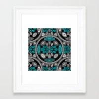 Geometric arabesque Framed Art Print