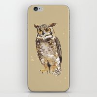 Great Horned Owl - Gertrude iPhone & iPod Skin